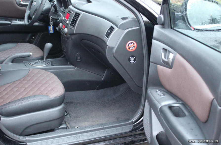 "перетяжка салона в кожу на автомобиле ""Toyota Land Cruiser 80"" Киа Маджентис"